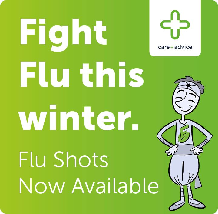 Flu Shots Now Available - in Green