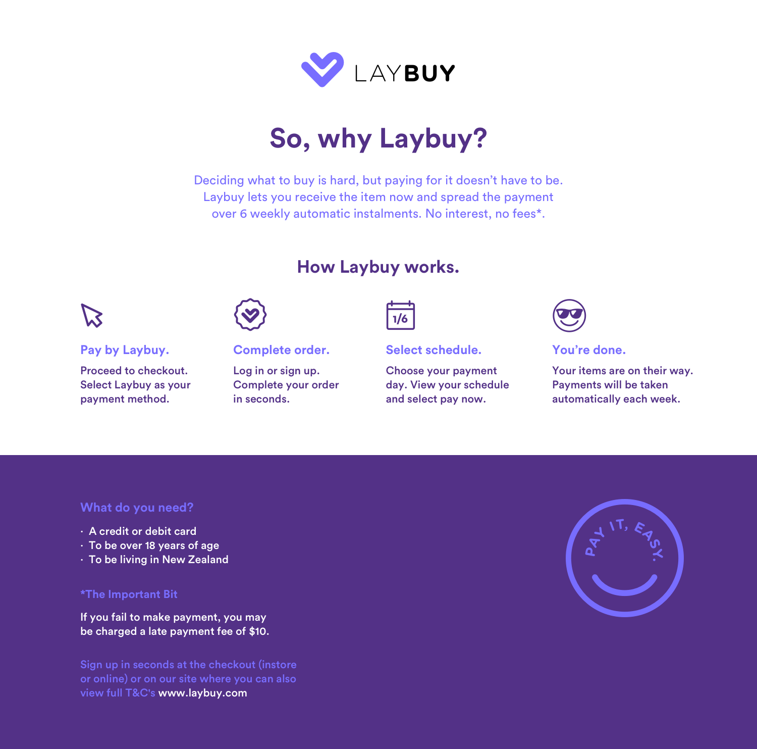 How it works landing page NZ